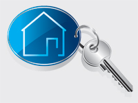 Sleutelhanger met huis