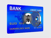 Bankkaart met sleutel